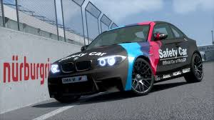 matte teal car bmw 1m motogp safety car