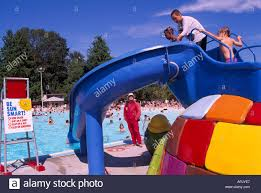 second beach pool in stanley park vancouver bc canada stock photo