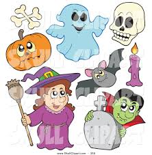 clipart of halloween royalty free stock skull designs of ghosts