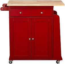 kitchen cabinet storage target target marketing systems sonoma collection two toned rolling kitchen cart with drawer cabinet and spice rack