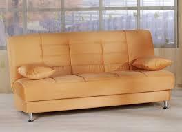 Orange Sofa Living Room by Vegas Rainbow Storage Sofa Bed In Light Orange Microfiber By Sunset