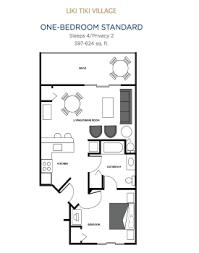 one bedroom floor plan liki tiki orlando florida one bedroom condo
