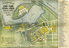 Map Of Portland Oregon Area by Lewis U0026 Clark Exposition Map 1905 Clarks Portland And Lakes