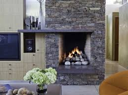 interior ecectic family room design ideas stone fireplace excerpt