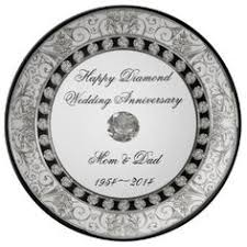 60th wedding anniversary plate 60th wedding anniversary porcelain plate