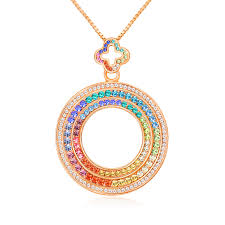 colored crystal necklace pendants images Qianse original design quot dubai eye quot wolrd premiere rainbow colored jpg