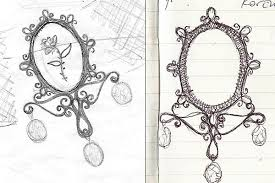 jewelry design from sketch to reality sketchblog of nela
