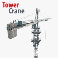 tower crane 3d model cgstudio