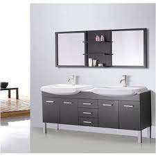 Yosemite Home Decor Sinks Design Element Tustin 72 Inch Double Sink And Mirror Bathroom
