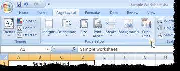 center your worksheet data in excel 2007