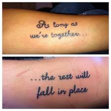 25 best matching designs for couples matching tattoos