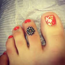 flower tattoo ring 64 best toe tattoos collection