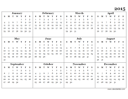 2015 yearly calendar template great printable calendars