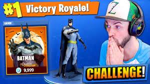 Challenge Kills Someone The Batman Challenge In Fortnite Battle Royale