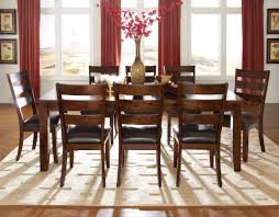 standard furniture abaco 7 pc rectangular dining table set in dark