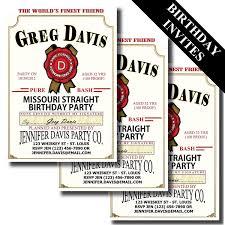 jim beam label birthday invitation bourbon whiskey