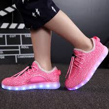 light up shoes for sale little kids led light up yeezys pink usb charging shoes cheap sale