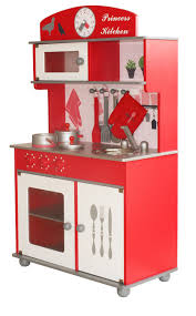 kids red butternut wooden toy kitchen u0026 accessories
