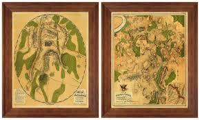 Battle Of Gettysburg Map Antietam U0026 Gettysburg American Civil War Maps Framed Set