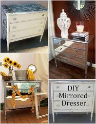 Nightstands With Mirrored Drawers Diy Mirrored Dresser 7 Steps With Pictures