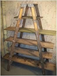 Brown Ladder Shelf Industrial Ladder Shelf A Brown Ladder Shelf Bamboo Ladder Shelf