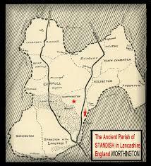 Lancashire England Map by The Manor Of Worthington