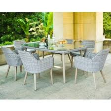 Maze Kitchen Table - rattan paris 6 seat dining set