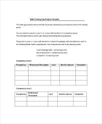 5 training gap analysis templates free sample example format