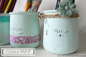 manualidades y tendencias chalk paint tarros de cristal shabby chic