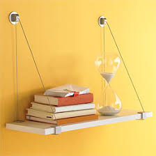 Wall Brackets For Shelving by Cable Brackets With White Melamine Wall Shelf The Container Store