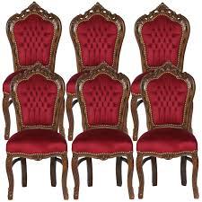 polster stühle esszimmer sitzgruppe esszimmer barockmöbel dunkelrote farbe 6er barock