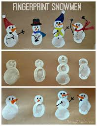 diy fingerprint snowman winter craft for kids snowman