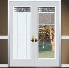 Exterior Single French Door by Patio French Doors With Built In Blinds Redesigningthepla Net
