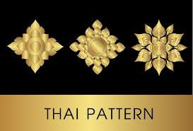 golden thai ornaments vector material 01 free vectors ui