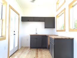 this is the irving tiny house with a downstairs bedroom built by