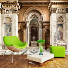 Custom 3D photo wallpaper European architecture church wall mural