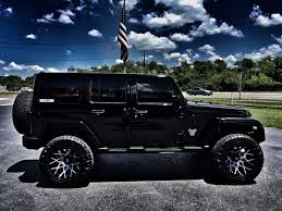 lifted jeep wrangler 2016 jeep wrangler unlimited black out lifted leather