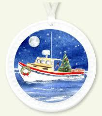 lobster boat ornament nautical ornament
