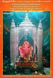 Temple Decoration Ideas For Home Theme Based 20 Ganpati Home Decoration Ideas Part 2