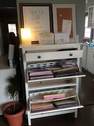my new craft station ikea hemnes shoe cabinet is perfect for