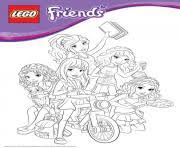 lego friends girls coloring pages printable