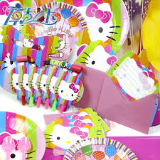 Hello Kitty Party Decorations Aliexpress Com Buy 78pcs Kids Birthday Party Decoration Set