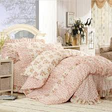 peach pink floral pretty wholesale chic bed in a bag ogbd080824