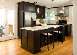 white kitchen backsplash ideas three dark brown wooden chairs