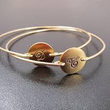 monogram bracelets initial monogram bracelets in cursive font set of 2