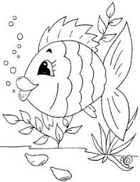 fish coloring book pages embroidery patterns