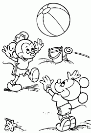 family fun coloring mickey mouse minnie