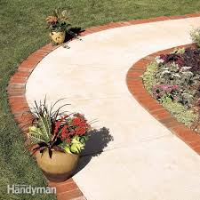 Gravel For Patio Base Use Brick Borders For Path Edging Concrete Walkway Brick Pavers