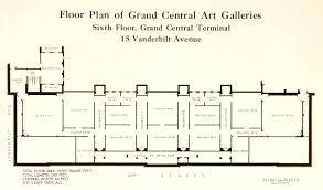 Upload Floor Plan by File Floor Plan Of Grand Central Art Galleries Circa 1923 New