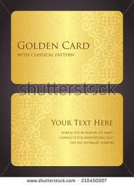 luxury golden card vintage pattern stock vector 210450007